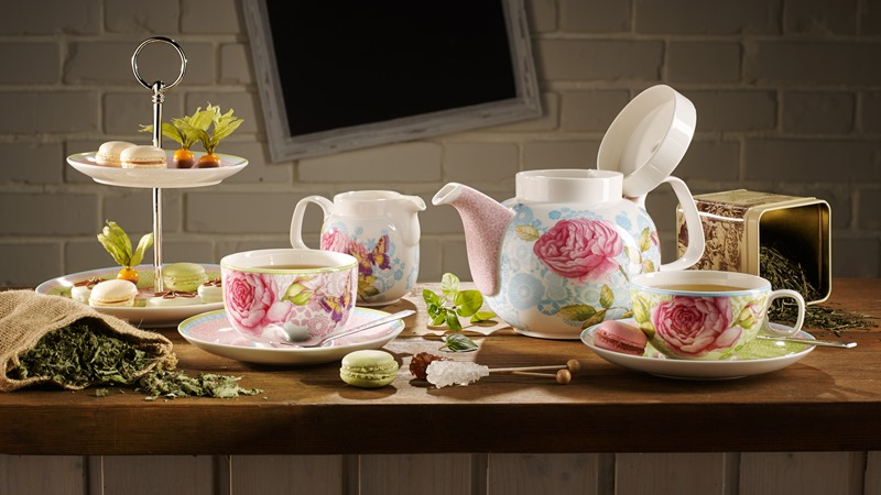Elegancki serwis doherbaty Rose Cottage Villeroy&boch